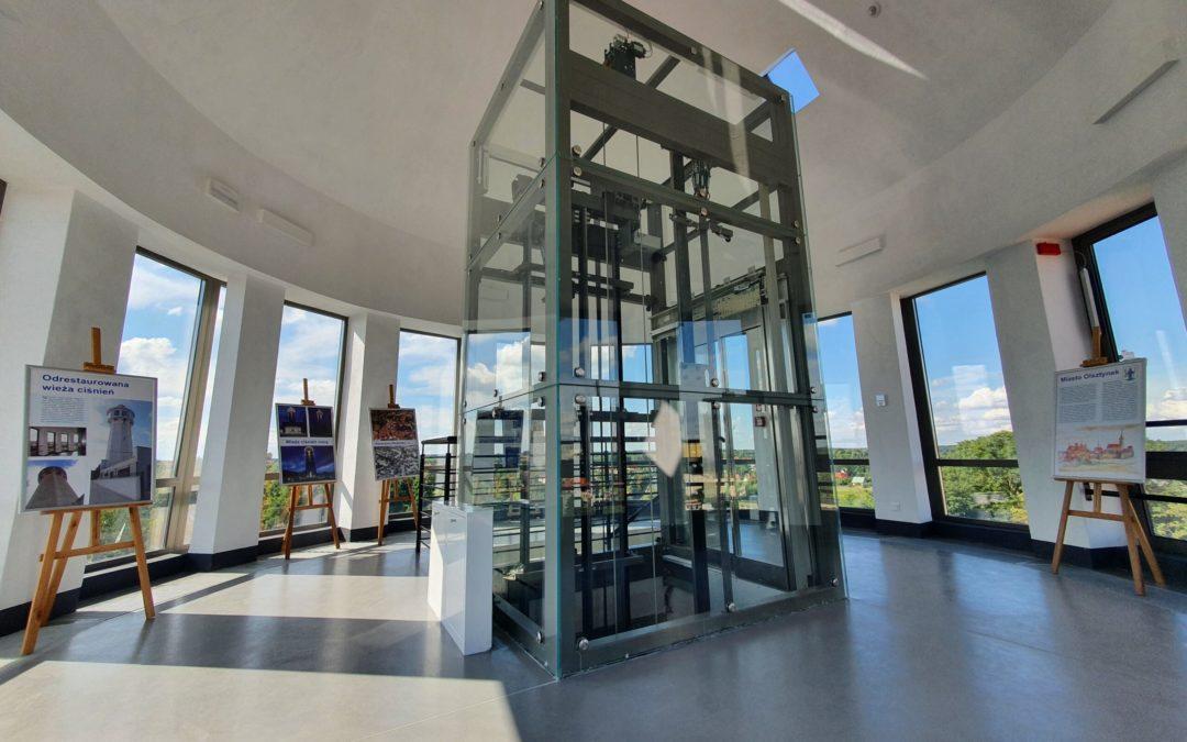 Odrestaurowana wieża ciśnień w Olsztynku