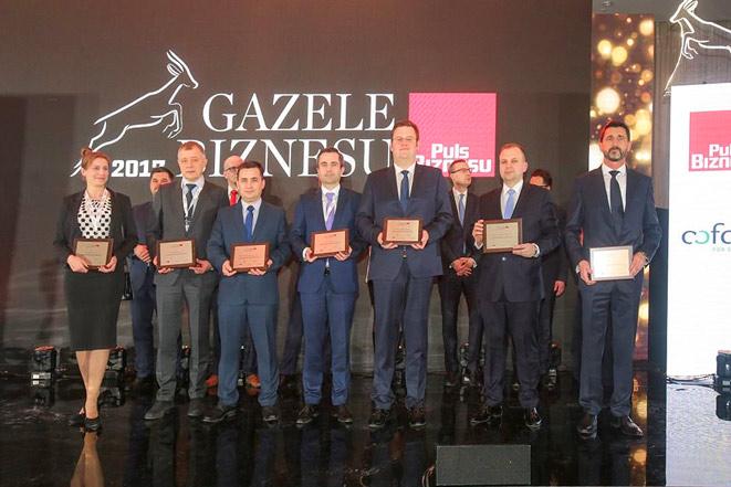 """Kolejny rok z rzędu FUD Bolęcin otrzymuje Gazele Biznesu. Wyróżnienie to jest przyznawane dla najbardziej dynamicznych małych i średnich firm przez redakcję """"Pulsu Biznesu""""."""