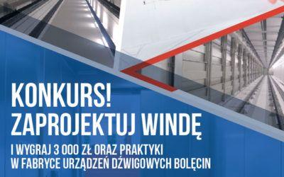 Fabryka Urządzeń Dźwigowych w Bolęcinie ogłasza konkurs dla studentów na projekt windy