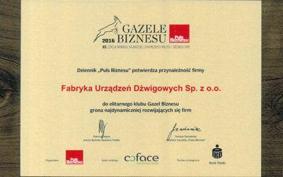 FUD Bolęcin w gronie najdynamiczniej rozwijających się firm